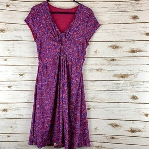 Garnet Hill dress size 8 twist front lined purple